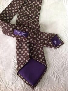 Ralph Lauren Purple Label Brown. Gold Dots Neck Tie