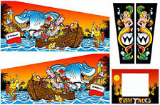 FISH TALES Pinball Machine Cabinet Decals Limited QTY - NEXT GEN - LICENSED