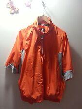 SUNICE Weather Men's Orange 1/4 Front Zip Short Sleeve Shirt - Sz L