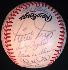 1954 WS GIANTS VS INDIANS EQUITABLE OLD TIMERS GAME SIGNED BASEBALL WILLIE MAYS