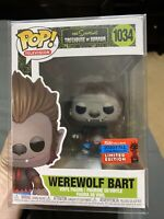 FUNKO POP THE SIMPSONS TREEHOUSE OF HORROR WEREWOLF BART NYCC EXCLUSIVE MINT