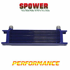 Universal 10 Row AN10 Engine Transmission 248mm Oil Cooler  Mocal Style Blue
