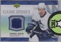 Daniel Sedin 2007-08 UD Series One Game Jersey Vancouver Canucks J-DS