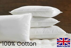 Luxury HOTEL QUALITY 100% Cotton Piped Edge Pillow - Soft, Medium or Firm 2 OR 4