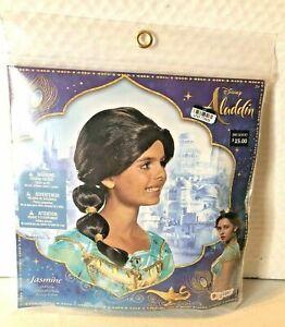 NEW Disney Girls Jasmine Wig, Aladdin Movie, Costume Black Wig Child Princess