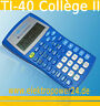 Texas Instruments TI-40 College II Taschenrechner / Schulrechner / Rechner