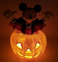 Vintage Trendmasters Mickey Dracula Blow Mold Halloween Jack O Lantern WORKS