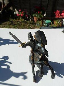 Papo - Black Knight & Horse - Circa 2005...