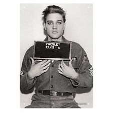 New * Elvis Presley Enlistment Photo Tin Sign * Metal 8 x 11.5 Inches US Army