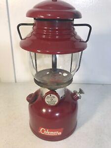 Vintage 61 200A Red Coleman Lantern Single Mantal Original Globe With Box