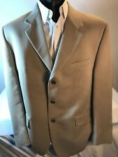 CHAPS EST. 1978 Men's Sport Coat Blazer Jacket sz 44R solid tan Jacket