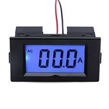Digital AC50A Ammeter Amperemeter Amp Testing Meter Blue Backlight LCD Panel ...