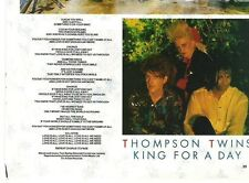 THOMPSON TWINS King For A Day lyrics magazine PHOTO / Pin Up 8x6""
