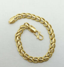 Stunning 22K Yellow Gold Wavy Curb Link Chain Bracelet 8 Inch A6532
