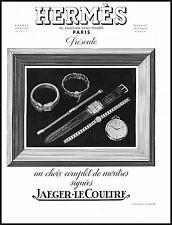 PUBBLICITA' 1939 HERMES OROLOGI WATCHES JAEGER LE COULTRE  MODA LUSSO GIOIELLI