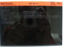 Honda CRF150F CRF150 2003 Parts List Manual Catalog Microfiche a239