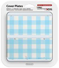 Nintendo 3ds Coverplate Blu-bianco a scacchi