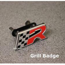 Cupra R Grill Badge Seat Leon Ibiza Chrome Black Red Emblem Sticker Grille 52g