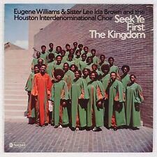 EUGENE WILLIAMS & SISTER LEE IDA BROWN: Seek  First Kingdom BLACK GOSPEL lp HEAR