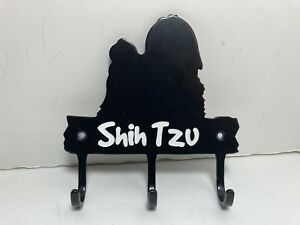 "Shih Tzu Wall Hook Hanger Metal Mount Leash Dog Pet Key Home Decor 4.5"""