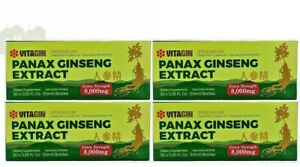 Red PANAX Ginseng Extract 12 years old Roots 8000 Mg Premium 4 Box (120 Bottles)