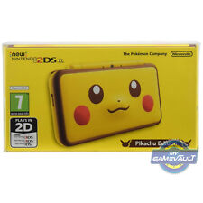 1 BOX PROTECTOR 4 NEW 2DS XL Console Nintendo Strong 0.5mm PLASTIC DISPLAY CASE