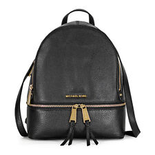 Michael Kors Rhea Small Leather Backpack - Black