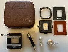 Vintage Rolleiflex Rolleikin 35mm Attachment for Rolleiflex 2.8 Camera in Case.