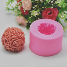 Flower Ball 3D Rose Shaped Silicone Decorative Soap Candle Molds Mould Crafts