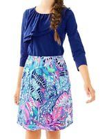 NEW Lilly Pulitzer GIRLS MINI SKIPPER DRESS So Sofishticated Pink Blue M L XL