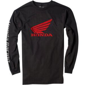 Factory Effex Honda Wing Long Sleeve T-Shirt (Black) Choose Size