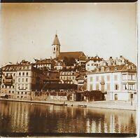 Suisse Thun Eglise Foto PL53L2n3 Stereo Placca Da Lente Vintage