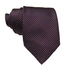 "Ermenegildo Zegna Men's Purple Geometric Pattern 3.5 "" Silk Tie Made in Italy"