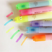 Kawaii New Highlighter Pen Rabbit Stationery Marker Pens Mini Writing 6 PCS Set