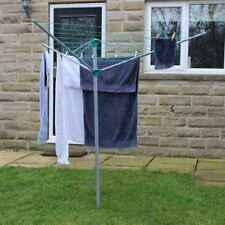 JVL 3 ARM 30M ROTARY CLOTHES WASHING LAUNDRY LINE AIRER POWDER COATED STEEL