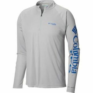 Mens Columbia PFG Terminal Tackle 1/4 Zip Omni-Wick T-Shirt 1756821