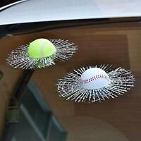 Adhesive Prank Simulation Broken Car Sticker Crack 3D Decal Glass NEW Ball M8Q5