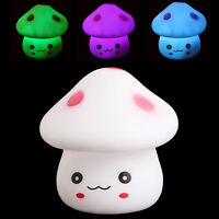 Mushroom LED Nightlight Lamp Color Changing Battery Party Decor Children Bedroom