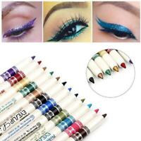 12 Pcs/Set Cosmetic Glitter Eye Shadow Lip Liner Eyeliner Pencil Pen Makeup Hot