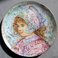 EDNA HIBEL Plate: NOBILITY of CHILDREN: Baronesse by Rosenthal 1978 Mint!