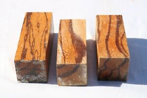 3PCS Marblewood Pen Knife Call Cue Exotic Wood Turning Bank Lumber 2 x 2 x 5¨