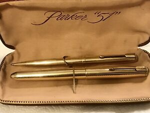 1959s PARKER Gold-fill Signet Fountain Pen and Pencil Set