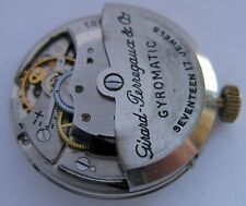 Girard Perregaux Gyromatic 17 jewels Watch movement for part