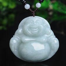 FINE Certified 100% Natural Grade A Jade (Aqua Jadeite) Buddha Big Pendant