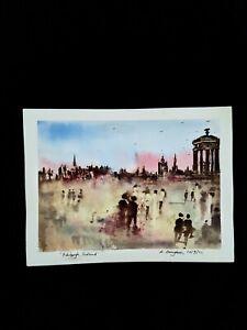 "Original Watercolour Painting ""Edinburgh, Scotland""."