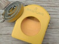 1970s Breitling Olympic timer stopwatch case yellow leather stop watch timer
