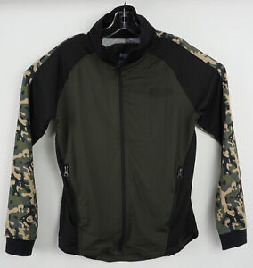 New Boxeur Des Reus Men's Large Black Green Camo Full Zip Athletic Track Jacket