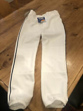 New Mizuno Youth Baseball Pants Size Youth 2Xl White With Navy Blue Piping Nwt