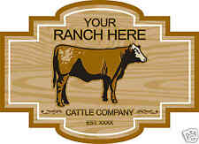 Cow Bull Cattle Farm Ranch Trailer Vinyl Sign Decal 24""