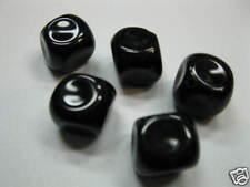 Glasperlen Eiswürfel 16x16mm schwarz  neu Perlen 2015